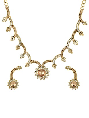 Gold Tone Necklace & Earrings Set - 15612527 - Standard Image - 1