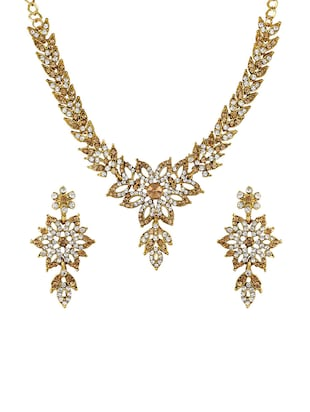 Gold Tone Necklace & Earrings Set - 15612528 - Standard Image - 1