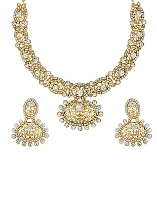 Gold Tone Necklace & Earrings Set - 15612531 - Standard Image - 1