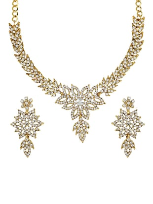 Gold Tone Necklace & Earrings Set - 15612533 - Standard Image - 1