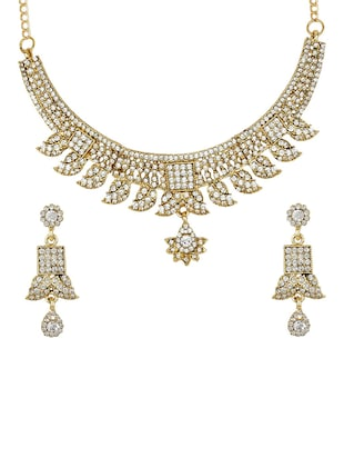 Gold Tone Necklace & Earrings Set - 15612534 - Standard Image - 1