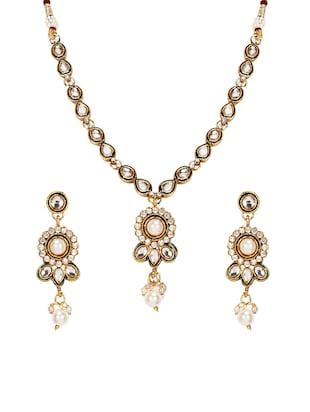 Gold Tone Necklace & Earrings Set - 15612539 - Standard Image - 1