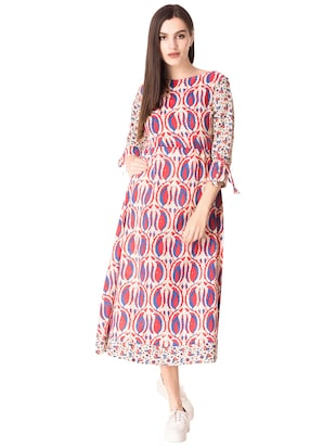 Printed a-line dress - 15612647 - Standard Image - 1
