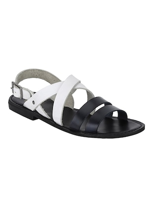 white Leather back strap sandals - 15613037 - Standard Image - 1