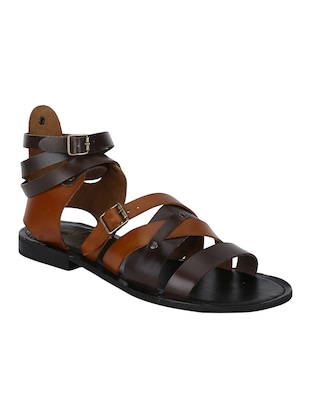 brown Leather back strap sandals - 15613039 - Standard Image - 1