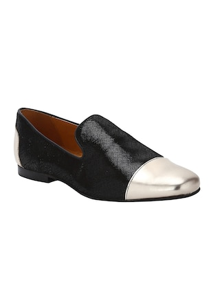 black Leather casual slip ons - 15613197 - Standard Image - 1