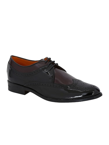 black Patent Leather lace-up derbys - 15613358 - Standard Image - 1
