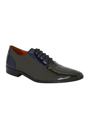 grey Patent Leather lace-up oxfords - 15613364 - Standard Image - 1