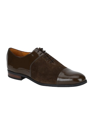 brown Suede lace-up oxfords - 15613413 - Standard Image - 1