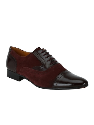 brown Suede lace-up oxfords - 15613421 - Standard Image - 1