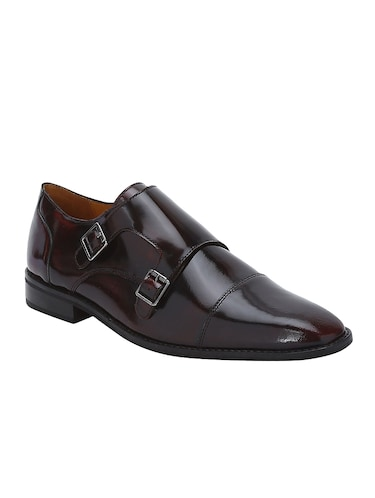 brown Patent Leather slip on monk straps - 15613433 - Standard Image - 1