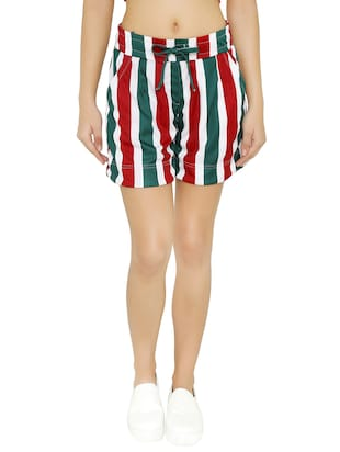 tie-knot detail striped shorts - 15614574 - Standard Image - 1