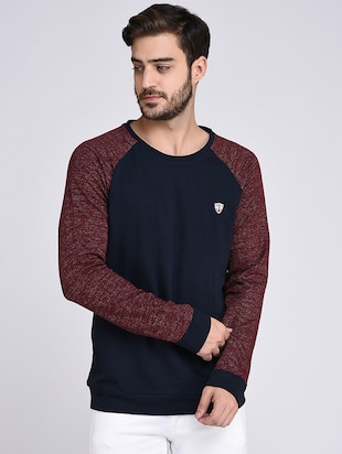 blue cotton raglan sweatshirt - 15614766 - Standard Image - 1