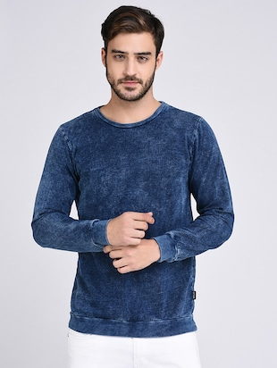 blue cotton sweatshirt - 15614773 - Standard Image - 1