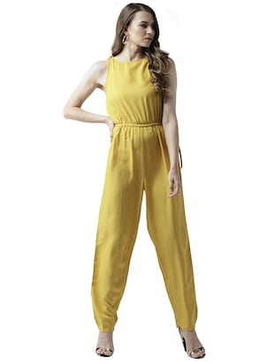 elasticated waist full length jumpsuit - 15615421 - Standard Image - 1