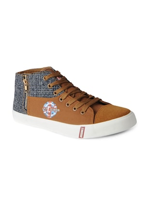 brown Canvas lace up sneakers - 15615696 - Standard Image - 1