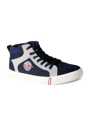 blue Canvas lace up sneakers - 15616078 - Standard Image - 1