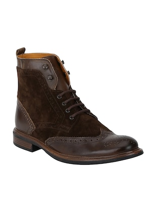 brown Leather high ankle boots - 15616493 - Standard Image - 1
