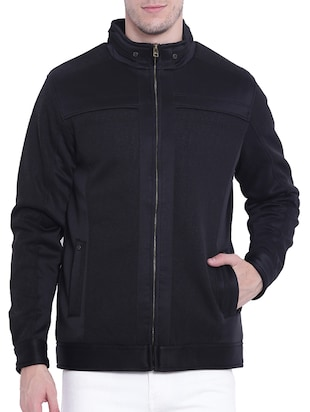 black nylon casual jacket - 15619877 - Standard Image - 1