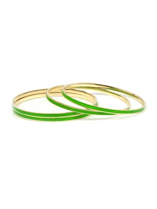 green brass bangle - 15620453 - Standard Image - 1