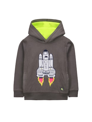 grey fleece sweatshirt - 15620471 - Standard Image - 1