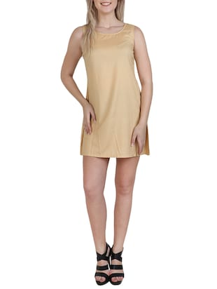 round neck a-line dress - 15621342 - Standard Image - 1
