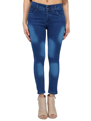 mid rise stone washed jeans - 15621496 - Standard Image - 1
