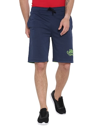 navy blue cotton shorts - 15621596 - Standard Image - 1