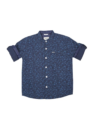 blue cotton shirt - 15625168 - Standard Image - 1