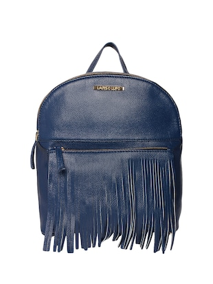 blue leatherette (pu) fashion backpack - 15625758 - Standard Image - 1