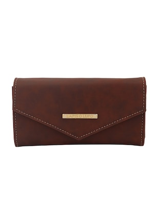 brown leatherette (pu wallet - 15625841 - Standard Image - 1