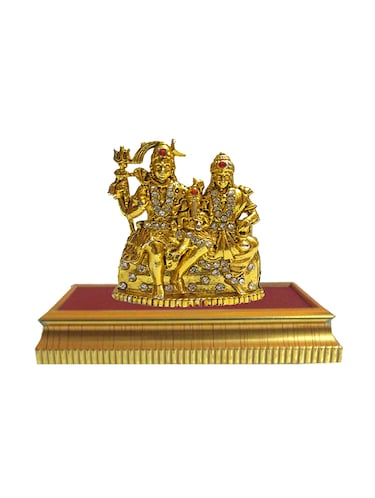 Gold Plated Religious God Shiv Family Lord Shiva Parivar With