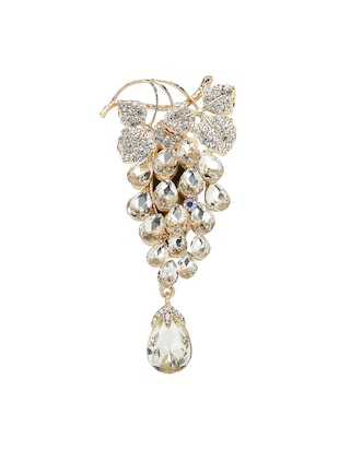 white tone brooch - 15627734 - Standard Image - 1