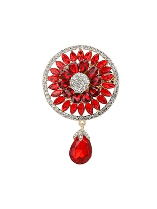 red tone brooch - 15627744 - Standard Image - 1