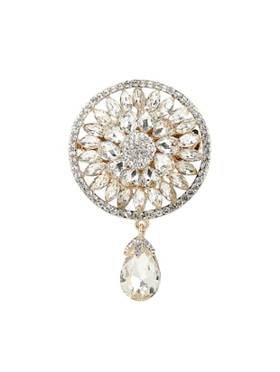 white tone brooch - 15627746 - Standard Image - 1