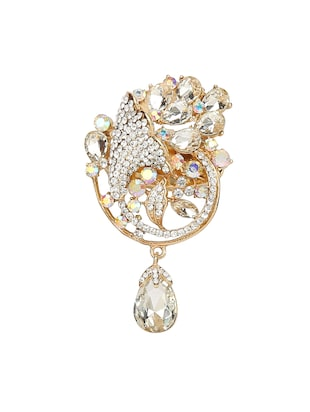 white metal brooch - 15627794 - Standard Image - 1