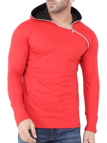 red cotton t-shirt - 15651671 - Standard Image - 1