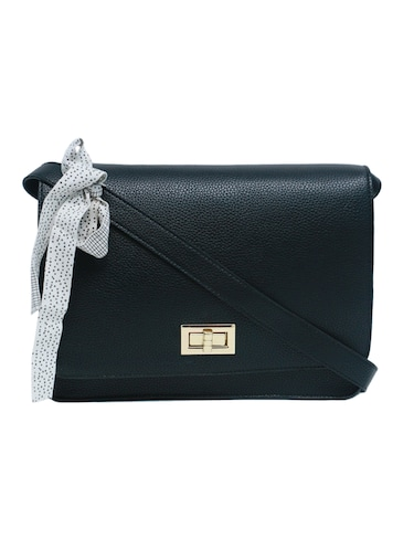 black leatherette (pu) regular sling bag - 15654799 - Standard Image - 1