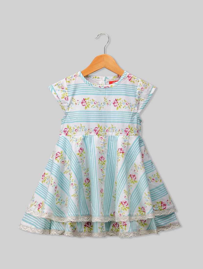 ad0c8d708de545 Buy Blue Cotton Frock for Women from Olele Kids Clothing for ₹710 at 11%  off