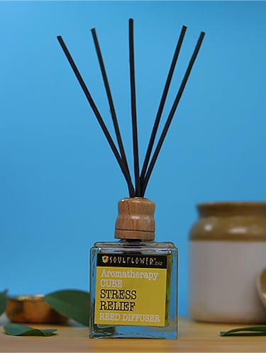 Soulflower Cube Reed Diffuser- Stress Relief - 15692766 - Standard Image - 1