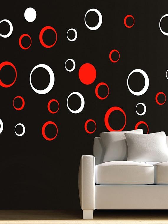 Buy Kayra Decor Circles Reusable Diy Wall Stencil Painting