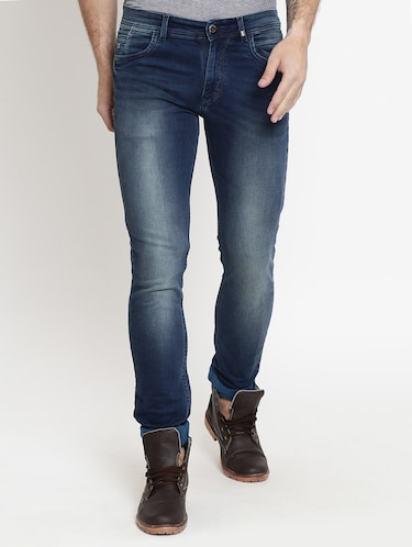 blue cotton washed jeans - 15721458 - Standard Image - 1