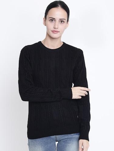 ribbed edge cable knit pullover - 15721734 - Standard Image - 1