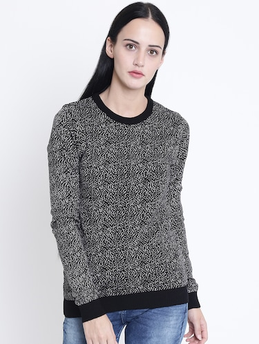 crew neck ribbed edge pullover - 15721738 - Standard Image - 1