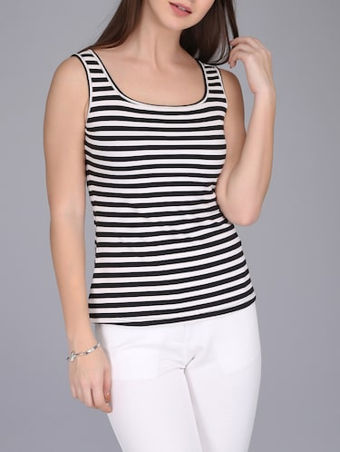 monochrome striped tank top - 15726291 - Standard Image - 1