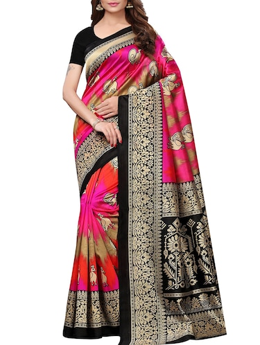 conversational mysore silk saree with blouse - 15726353 - Standard Image - 1