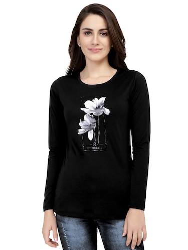 graphic print long sleeved tee - 15726859 - Standard Image - 1
