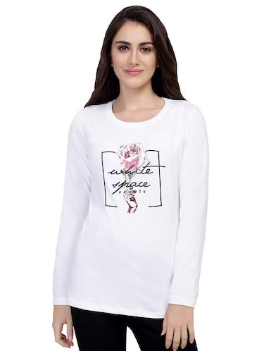 graphic print long sleeved tee - 15726867 - Standard Image - 1