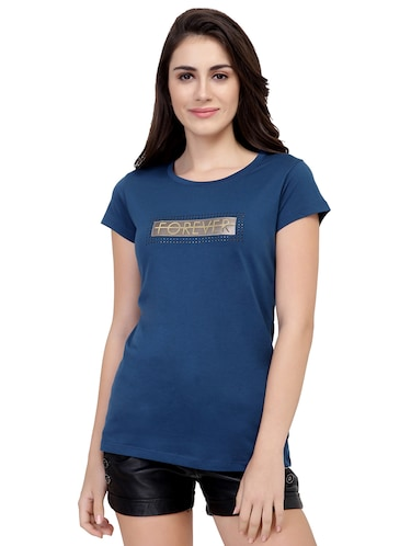 letter patch short sleeved tee - 15726900 - Standard Image - 1