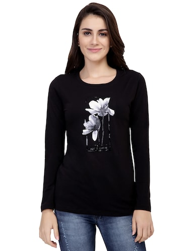 Graphic Print Long Sleeved Tee - 15726929 - Standard Image - 1